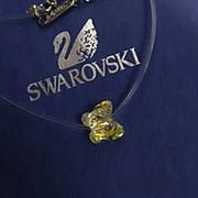 Подвеска кристалл на леске Сваровски мистик Бабочка фото