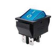 Выключатель KCD4, синий (с подсветкой) фото