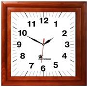 Часы настенные в деревянном корпусе с логотипом компании фото