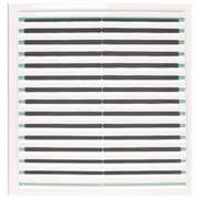 Решетка вентиляционная 350х350мм (3535РР), АБС пластик, белая фото