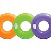 Круг для плавания глянцевый 3 цвета 76см, Intex 59258 фото