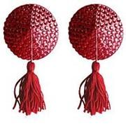 Красные круглые пестисы Nipple Tassels Round фото