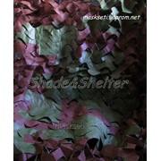 """Маскировочная сетка S&S серия Basic, """"Пиксель"""" - коричнево-зеленая фото"""