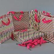 Подарочные картонные пакеты с брокатом 15х15х8см/12шт TO482 570719 фото