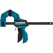 Струбцина реечная, быстрозажимная, пистолетного типа, пошаговый механизм, пластиковый корпус, 150 мм Gross фото