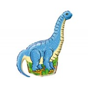 Шар фольгированный Ф Фигура 11 Динозавр голубой FM фото
