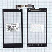 Сенсорное стекло (тачскрин) для ZTE V830 (Blade G Lux) черное, Диагональ 4.5 фото