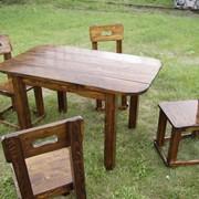 Набор мебели для кафе (стол 1000х700х750, стул 420х380х900( высота сидения 450)). Возможно старение, эффект древоточца, брашировка фото