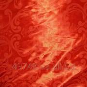 Подкладка атласная красная жаккардовая ткань фото