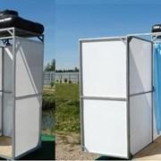 Летний душ для дачи с тамбуром и без тамбура. Бак от 55 до 200 литров с подогревом и без. Полный комплект. Доставка. №081 фото