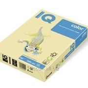 Бумага цветная iq color A4, 80г/м2, ye23-желтый 500л. YE23-80 фото