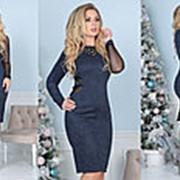 Платье женское из замша (4 цвета) - Синий ТК/-3040 фото