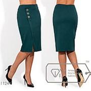 Классическая юбка женская с разрезом - Бутылка фото