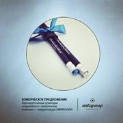 Сувенирные карандаши с логотипом компании и кристаллом swarovski фото