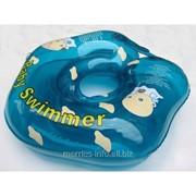 Круг на шею Baby Swimmer для купания детей от 0 до 24 месяцев голубой полноцветный ; BS21B фото