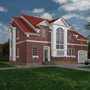 Дома кирпичные жилые - проекты, строительство фото