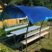 Беседка для дачи Астра 4 м, поликарбонат 6 мм, цветной фото