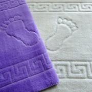 """Махровый коврик для ванной с """"ножками"""", 50*70, двойная петля фото"""
