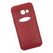 Защитная крышка для Samsung A3 2017 «LP» Сетка Soft Touch (красная) европакет фото