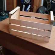 Ящик деревянный для яблок фото