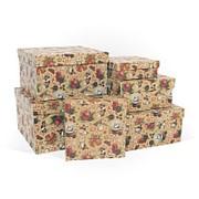 """Коробка подарочная """"Новогодняя история крафт"""", квадратная, 190х190х90 мм, 8587 фото"""
