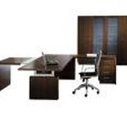 Мебель для офисов (офисная): столы компьютерные, стенки, шкафы для одежды, рабочие шкафы, полки, подставки, приставки к столам, стеллажи, торговое оборудование, не требующее специального сертификата фото