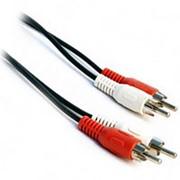 Аудио-видео кабель 2RCA штекер-штекер Ritmix RCC-075 - 1.5 метра фото