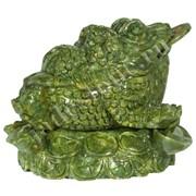 Жаба из камня серпентин фото