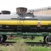 Вагоны грузовые железнодорожные цистерны для непищевых продуктов. Вагон - цистерна для перевозки серной кислоты 15-1424-03. фото