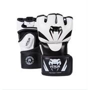 "Перчатки Venum ""Attack"" MMA Gloves Skintex Leather BK/WH фото"