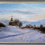 Пейзаж Зимний вечер фото