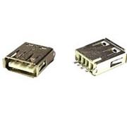 Гнездо USB 180° на плату (FA) фото