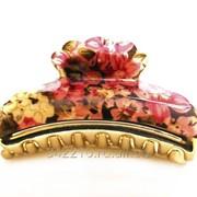 Заколка-краб Нежные цветы фото