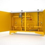 Газорегуляторный пункт шкафной с узлом учета и газовым обогревом ГСГО-50/2-СГ-ЭК фото
