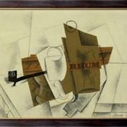 Картина Труба, стекло, бутылка рома, Пикассо, Пабло фото