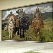 Нанесение любого цветного изображения на ворота, от изысканных до фантастических картин известных художников! фото