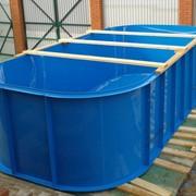 Прямоугольный бассейн из пластика 2 x 2 x 1,5 для дачи фото