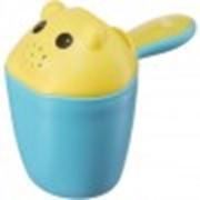 Ковш Happy Baby детский с крышкой Scooppy blue фото