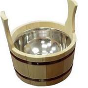 Шайка для бани с нержавеющей вставкой на 4,5 л фото