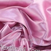 Ткань Атлас розовый фото