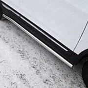 Пороги Cherry Tiggo 5 2014-наст.время (труба с площадкой нерж. сталь 60 мм) фото