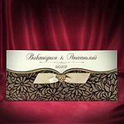 Пригласительные на свадьбу в коричневых тонах (арт. 5462) фото