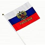 Флаг 220236 AN 1286 РОССИИ пластиковый держатель, полотно см_14*21 ( 1 шт.) фото