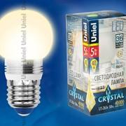 Лампа CRYSTAL серия (Специальная серия для хрустальных люстр) LED-G45P-5W/WW/E27/FR ALC02SL пластик фото