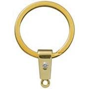 Кольцо для ключей со стразой фото