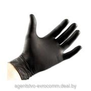 Перчатки одноразовые суперпрочные нитриловые S (100шт.) (черные) фото