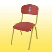 Стул детский, гнутый 246х260х300 мм, Стульчик для детского сада, Купить стулья для детских садов, Код:0242Ф фото