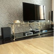 Подставка под телевизор с коваными элементами №12 фото