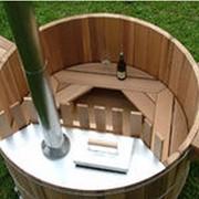 Фурако из сосны диаметром 1.6 метра с внутренней печкой фото