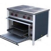 Плита промышленная электрическая ПЕ-4Ш эконом с энергосберегающими конфорками с жарочным шкафом фото